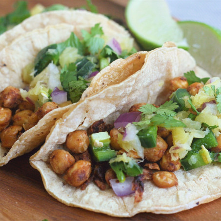 Jerk Chickpea Tacos With Pineapple Salsa