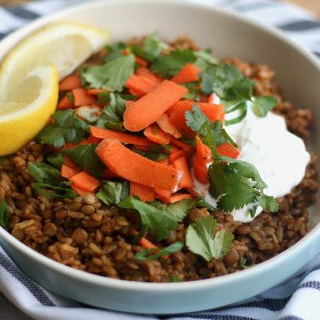 Middle Eastern Spiced Lentils & Rice