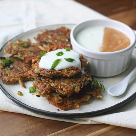 Potato & Sweet Potato Latkes