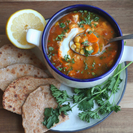 Harira (Moroccan Vegetable Soup)
