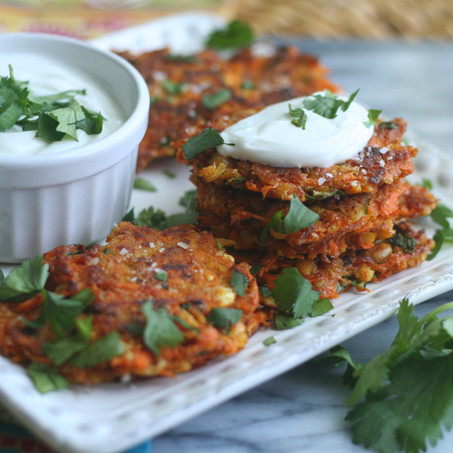 Moroccan Carrot & Chickpea Fritters
