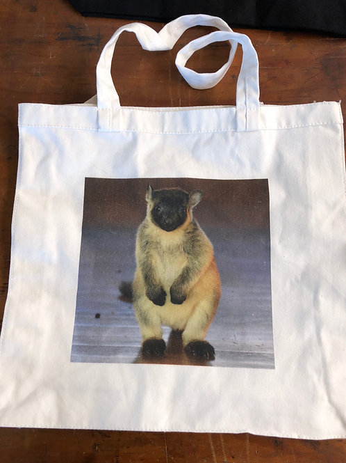 Small cotton tote bag with Bear