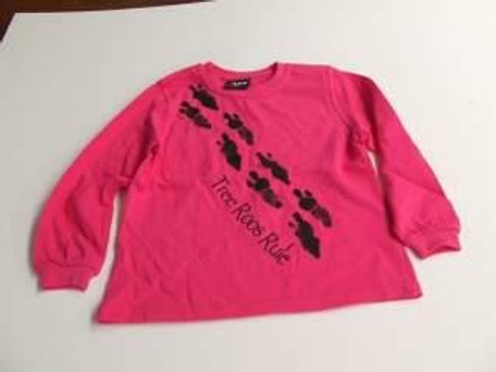 Kids long sleeve Tshirts, footprints on front