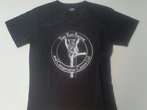 mens tshirts Vneck white logo