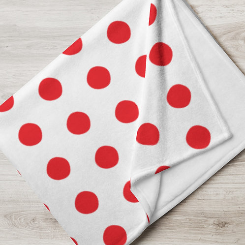 Red Dots Throw Blanket