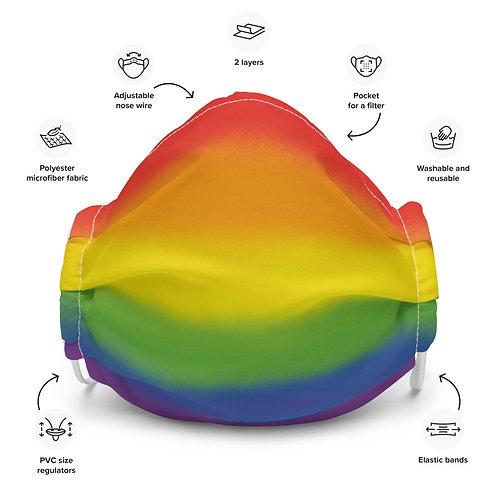 Rainbow Pride Premium face mask