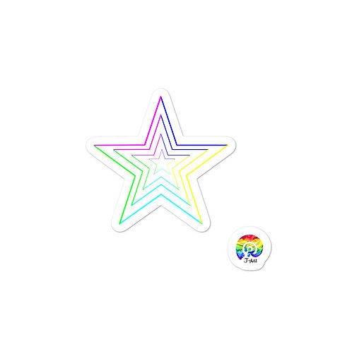 COLORFUL STAR Bubble-free stickers