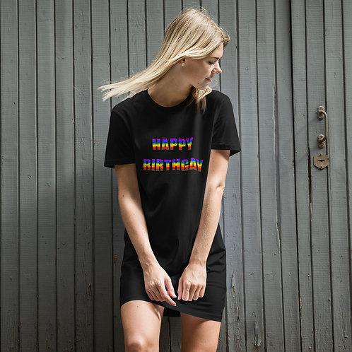 Happy Birthgay Organic cotton t-shirt dress