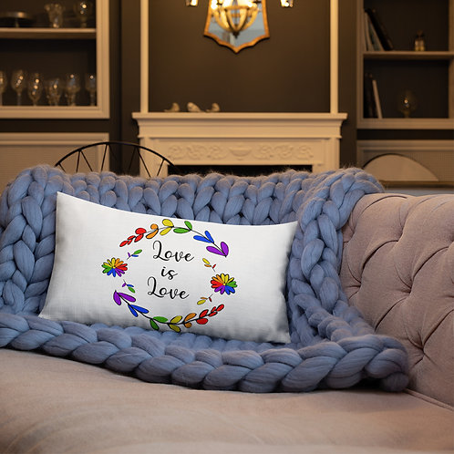 Love is Love Rainbow Premium Pillow