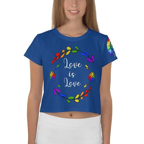 Love is Love Rainbow  Crop Tee