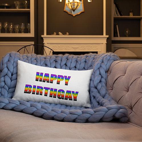 Happy Birthgay Premium Pillow