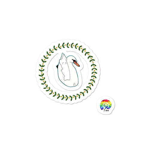 Swan Bubble-free stickers