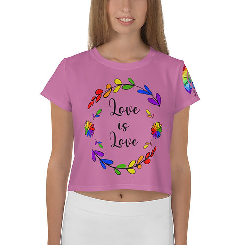 Love is Love Rainbow  Crop Tee