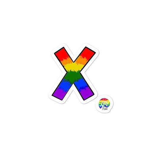 X PRIDE Bubble-free stickers