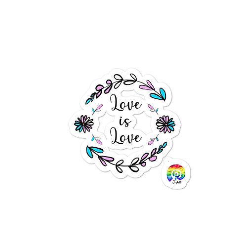 Love is Love Transgender Bubble-free stickers