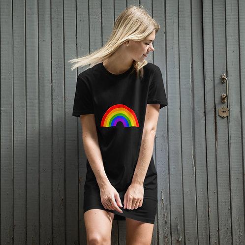 RAINBOW Organic cotton t-shirt dress