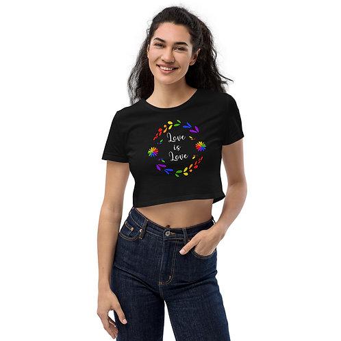 Love is Love Rainbow Organic Crop Top