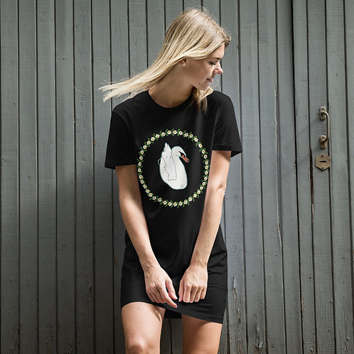 Swan Organic cotton t-shirt dress