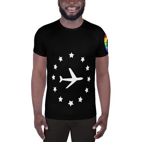 Airplane Men's Athletic T-shirt
