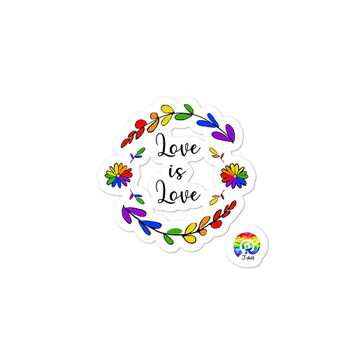 Love is Love Rainbow Bubble-free stickers