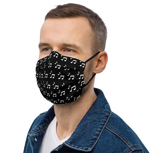 Musical Notes Premium face mask
