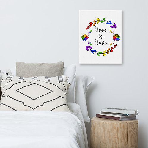 Love is Love Rainbow Canvas
