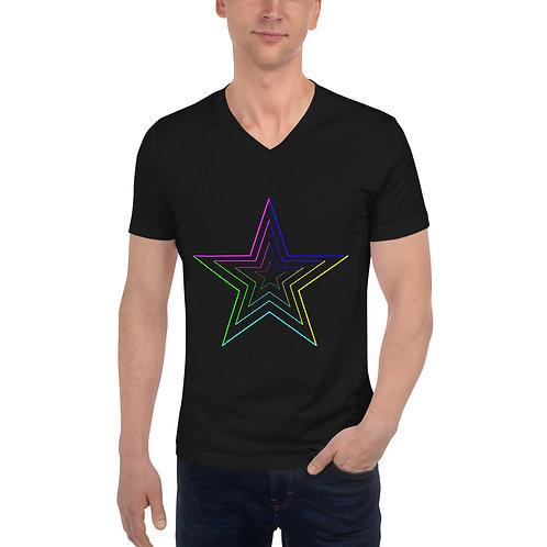 STAR LINES Short Sleeve V-Neck T-Shirt