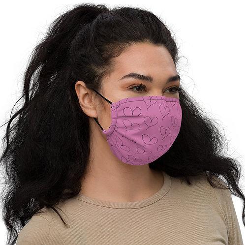 Hearts Premium face mask