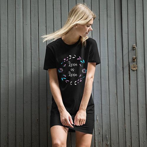 Love is Love Transgender Organic cotton t-shirt dress