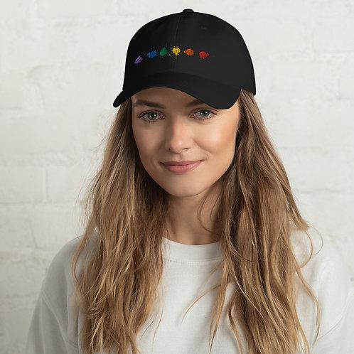 Rainbow Paint Drops Hat