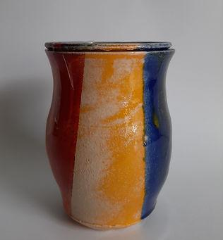 urn waxinelichtje kleuren rood geel blau