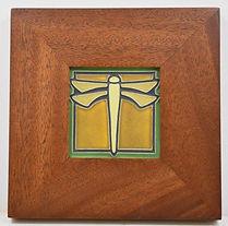 Framed Motawi Dragonfly Tile