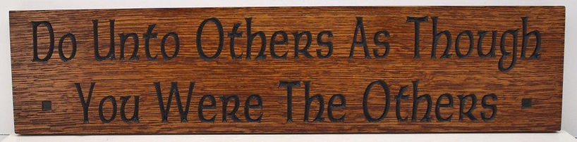 Motto Plaque Oak for Bungalow Arts and Crafts Home Decor
