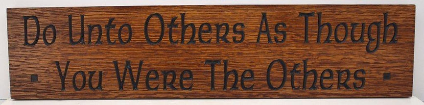 Oak Motto Plaque for mission arts and crafts home decor