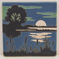arts and crafts tile moonstruck midnight