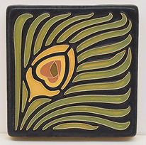 Arts and Crafts Tile Feather Yellow