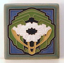 Arts and Crafts Tile Poppy Caribbean