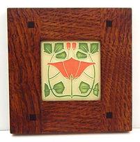 Motawi Lizzie Tile in Morris Oak Frame