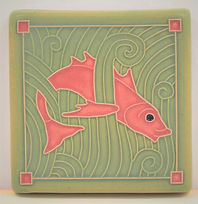 Arts and Crafts Tile Fish Coral Reef