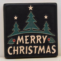 Arts and Crafts Tile Christmas Black