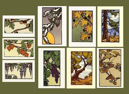 Arts and Crafts Press Notecards by Yoshiko Yamamoto