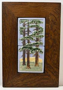 Ravenstone Fir Diptych Tile in Mitered Oak Frame