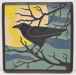 Arts and Crafts Tile Raven
