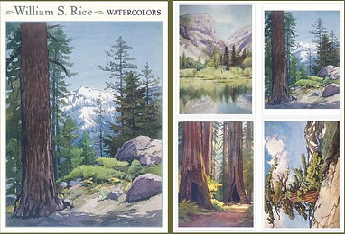 Arts and Crafts Watercolors Notecards by William S. Rice