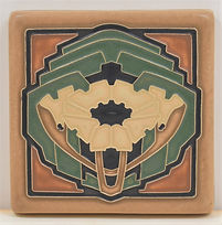 arts and crafts tile poppy tile