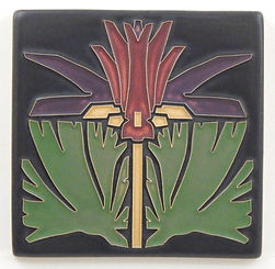 arts and crafts tile prairie lily lavender