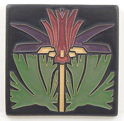 Arts and Craft Tile Prairie Lily Lavender