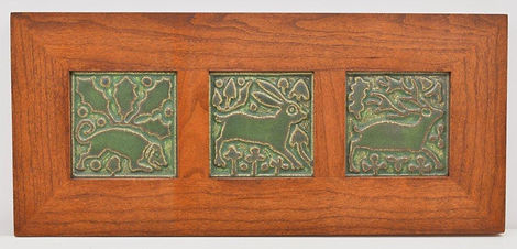 Motawi Relief Tiles in Mitered Cherry Frame