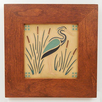 Mitered Cherry Frame for Arts and Crafts Tile