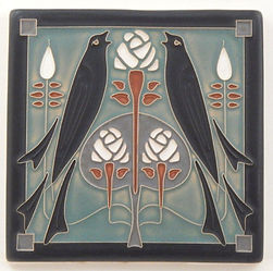 Arts and Crafts Tile Songbirds Twilight